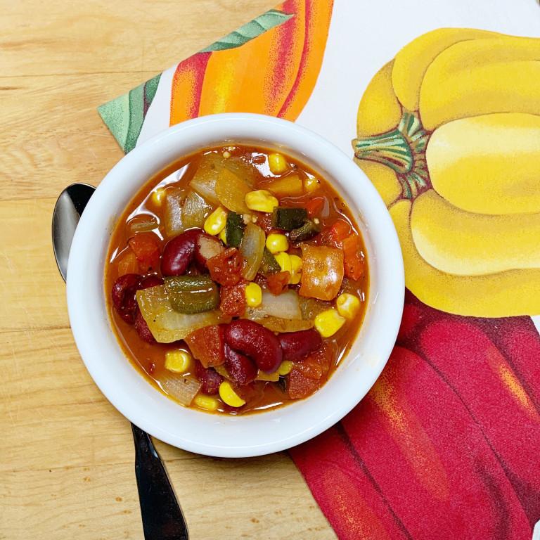 cup of Veggie Chili